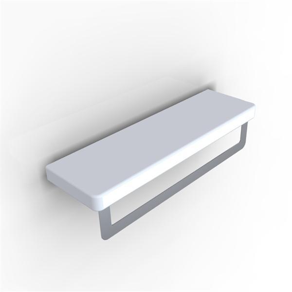 Piano PI 03 БелыйАксессуары для ванной<br>Hidra Ceramica Piano PI 03. Настенный полотенцедержатель, цвет: белый.<br>