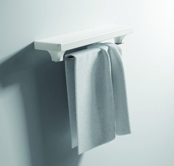 Piano PI 04 БелыйАксессуары для ванной<br>Hidra Ceramica Piano PI 04. Настенный полотенцедержатель, цвет: белый.<br>