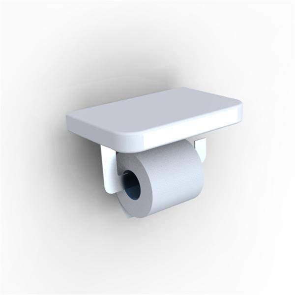 Piano PI 05 БелыйАксессуары для ванной<br>Hidra Ceramica Piano PI 05. Настенный держатель для туалетной бумаги, цвет: белый.<br>