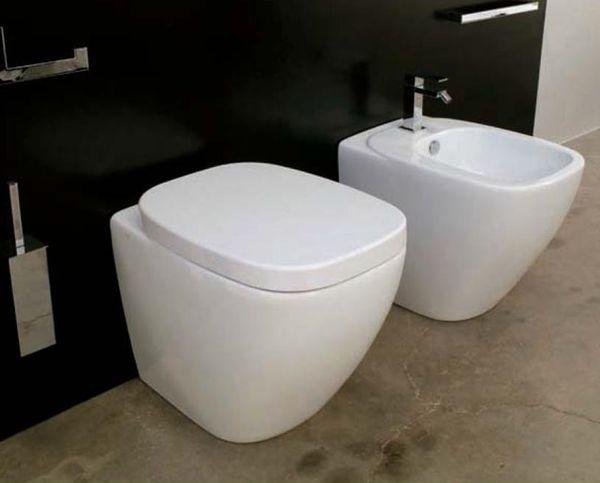 Dial DL 10 Бело-фиолетовыйУнитазы<br>Hidra Ceramica Dial DL 10. Напольный унитаз бело-фиолетового цвета. Комплект креплений включен в стоимость, сиденье и бачок приобретаются отдельно.<br>