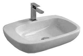 Dial DL 51 БелаяРаковины<br>Hidra Ceramica Dial DL 51. Подвесная раковина с отверстием под смеситель, цвет: белый. Дополнительно можно приобрести сифон, слив и комплект креплений.<br>