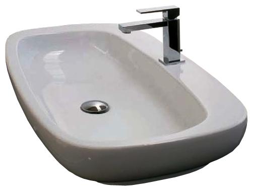 Dial DL 55 Белая/ФиолетоваяРаковины<br>Hidra Ceramica Dial DL 55. Накладная раковина, устанавливается на столешницу или мебель, цвет белый с выделением частей раковины фиолетовым цветом. Дополнительно можно приобрести сифон, слив и комплект креплений.<br>