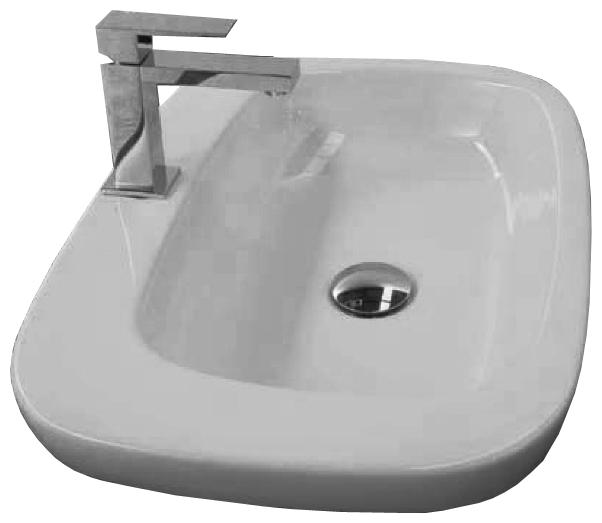 Dial DL 58 Белая/ЧернаяРаковины<br>Hidra Ceramica Dial DL 58. Накладная врезная раковина, устанавливается на столешницу или мебель,  цвет белый с выделением частей раковины черным цветом. Дополнительно можно приобрести сифон и слив.<br>