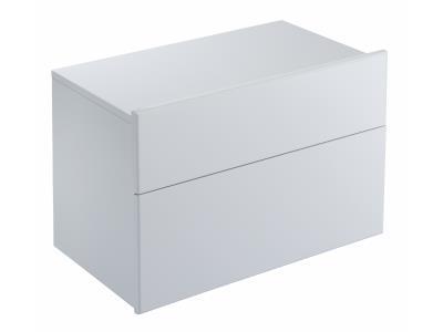 Formilia EB1021-HU-HU  Белый бриллиантМебель для ванной<br>Тумба Jacob Delafon Formilia EB1021-HU-HU под раковину: два плавно закрывающихся ящика, одна стеклянная перегородка для флаконов, оборудована вместительными ящиками для предметов повседневного использования, извлекаемый органайзер.<br>