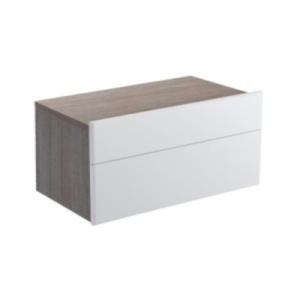 Formilia EB1022-HU-F47  КапучиноМебель для ванной<br>Тумба Jacob Delafon Formilia EB1022-HU-F47 под раковину: два плавно закрывающихся ящика, в нижнем ящике 1 стеклянная перегородка для флаконов, оборудована вместительными ящиками для предметов повседневного использования, в верхнем ящике органайзер.<br>
