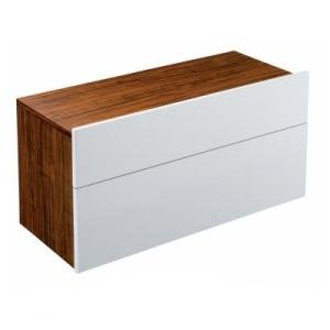 Formilia EB1022-HU-N17  ОрехМебель для ванной<br>Тумба Jacob Delafon Formilia EB1022-HU-N17 под раковину: два плавно закрывающихся ящика, в нижнем ящике 1 стеклянная перегородка для флаконов, оборудована вместительными ящиками для предметов повседневного использования, в верхнем ящике органайзер.<br>