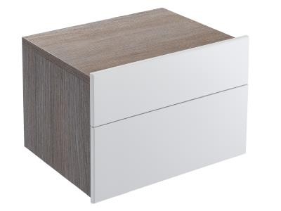 Formilia EB1026-HU-F47  КапучиноМебель для ванной<br>Тумба Jacob Delafon Formilia EB1026-HU-F47  под раковину: два плавно закрывающихся ящика, стеклянная перегородка для флаконов, оборудована вместительными ящиками для предметов повседневного использования, извлекаемый органайзер.<br>
