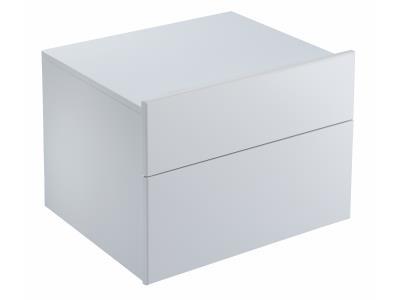 Formilia EB1027-HU-HU Белый бриллиантМебель для ванной<br>Тумба Jacob Delafon Formilia EB1027-HU-HU под раковину: два плавно закрывающихся ящика, стеклянная перегородка для флаконов, оборудована вместительными ящиками для предметов повседневного использования, извлекаемый органайзер.<br>