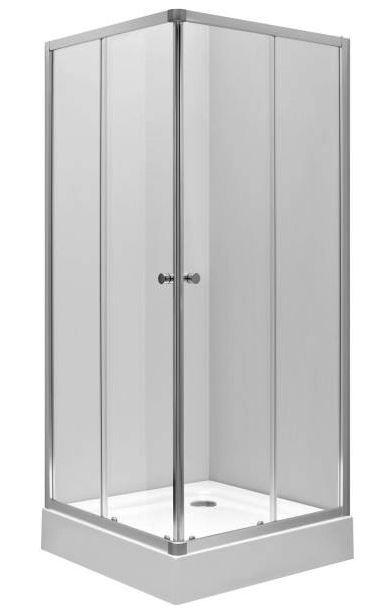 Душевой уголок Ifo Silver 90x90 RP5290222003 Стекло прозрачное, профиль серебристый цены онлайн