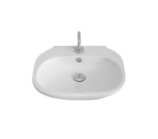 ABC LO 55 БелаяРаковины<br>Hidra Ceramica ABC LO 55. Раковина с отверстием под смеситель, подвешивается на стену, либо устанавливается на столешницу или мебель, цвет: белый. Дополнительно можно приобрести сифон и комплект креплений.<br>