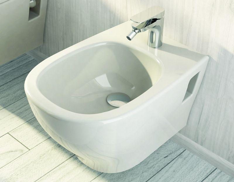 My MW 14 БелоеБиде<br>Hidra Ceramica My MW 14. Биде подвесное, предусмотренно место под смеситель, цвет: белый. Дополнительно приобретается кронштейн.<br>