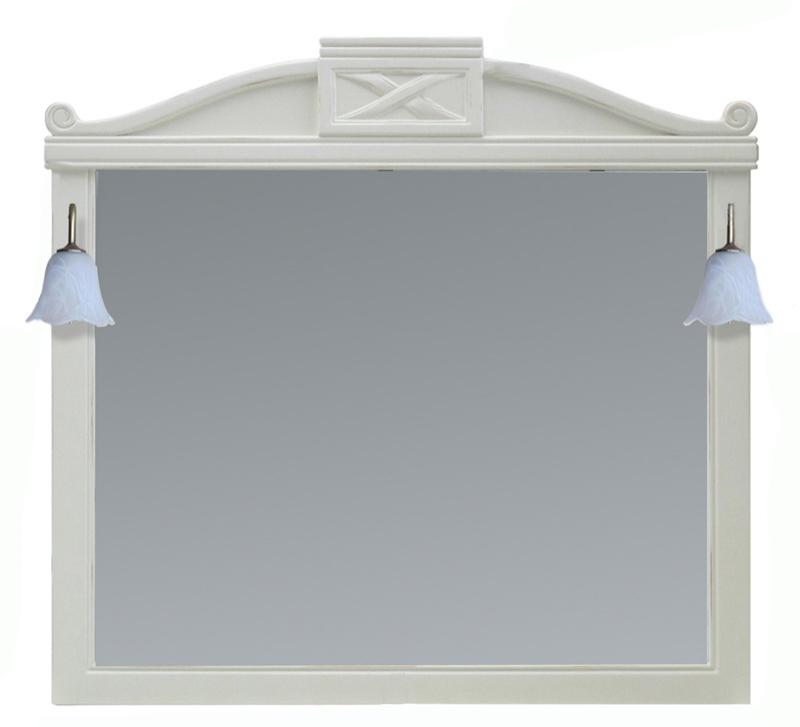 Луизиана 173019 Blanco-anticМебель для ванной<br>Зеркало Aquanet Луизиана 173019. Цвет Blanco. Артикул 173020.<br>