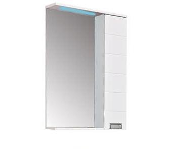 Доминика 55 Белый-фасад-чёрныйМебель для ванной<br>Зеркало Aquanet Доминика 171080 с LED подсветкой. Цвет белый фасад чёрный. Артикул 171080.<br>