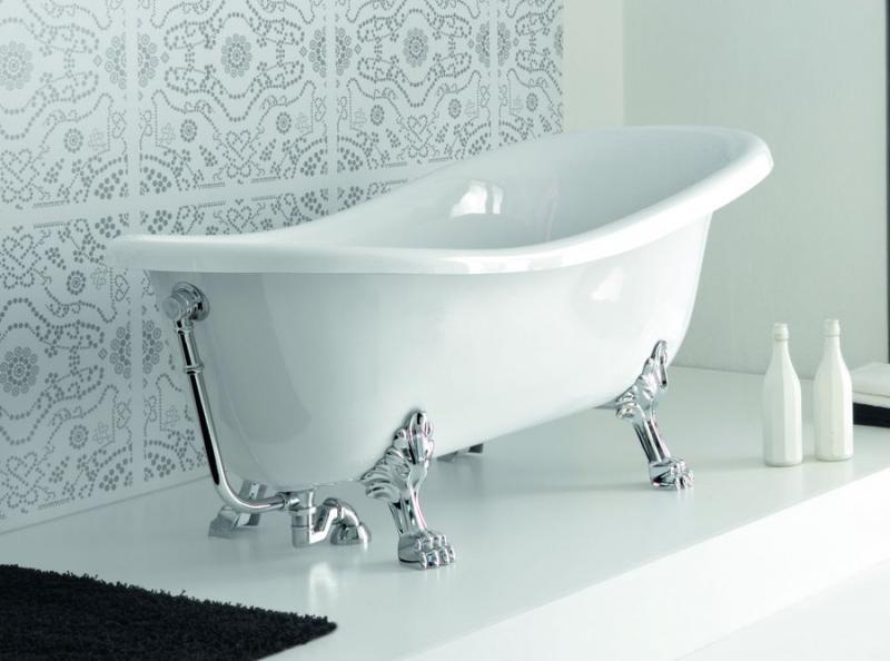 Ellade  БронзаВанны<br>Hidra Ceramica Ellade D 62. Овальная ванна белого цвета в комплекте с ножками и сливом/переливом, фурнитура бронза.<br>