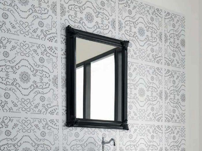 Ellade Classica ЧерноеМебель для ванной<br>Hidra Ceramica Ellade Classica D 166 N. Зеркало в деревянной раме черного цвета.<br>