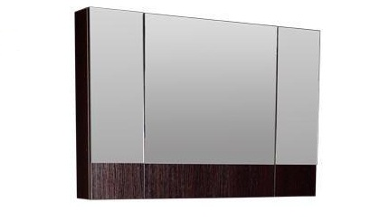 Нота 159110 Венге-фасад белыйМебель для ванной<br>Зеркало Aquanet 173993 Нота. Цвет: венге, фасад белый.<br>