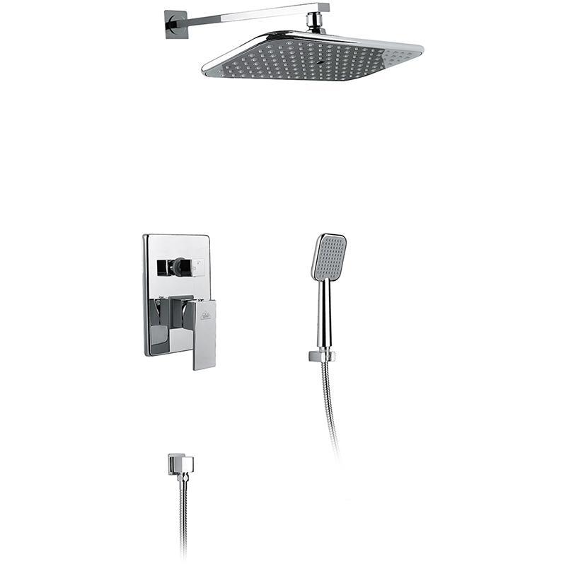 Selene SX-2069/00 SM1013 ХромДушевые системы<br>Душевая система Timo Selene SX-2069/00 SM1013 скрытого монтажа, с прямоугольным верхним душем, однорычажная, с двумя режимами. Решение для ванной комнаты с интерьером в стиле hi-tech.<br><br><br><br>Душевая система сделана из латуни класса А.<br>Покрытие: глянцевый хром.<br><br><br><br><br>Смеситель:<br><br>Управление: однорычажное.<br>Диаметр керамического картриджа: 35 мм.<br>В комплекте внешняя и внутренняя (ответная) его части.<br><br><br><br><br>Душевая система:<br><br>Материал лейки: высококачественный пластик.<br>Цвет верхней/нижней лейки: светло-серый.<br>Прямоугольный верхний душ: 36x19 см.<br>Длина кронштейна верхнего душа: 34 см.<br>Однорежимный ручной душ.<br>Угол наклона верхней лейки регулируется до 35° во все стороны.<br>2 режима: переключение верхний душ/лейка.<br><br><br>