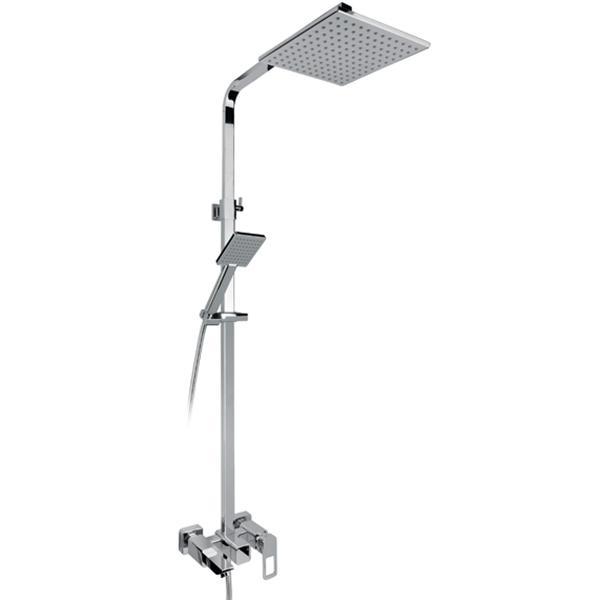 Sahara SX-1115 ХромДушевые системы<br>Душевая система Timo Sahara SX-1115 с квадратным верхним душем, однорычажным смесителем. Решение для ванной комнаты с интерьером в стиле hi-tech.<br><br><br><br>Душевая система сделана из латуни класса А.<br>Покрытие: глянцевый хром.<br><br><br><br><br>Смеситель:<br><br>Управление: однорычажное.<br>Фиксированный излив длиной: 17,98 см.<br>Картридж с шумопоглощающей фильтрующей сеткой.<br>Диаметр керамического картриджа: 35 мм.<br><br><br><br><br>Душевая система:<br><br>Материал лейки: высококачественный пластик.<br>Цвет верхней/нижней лейки: светло-серый.<br>Квадратный тропический верхний душ размером: 22х22 см.<br>Длина кронштейна верхнего душа: 45,85 см.<br>Однорежимный ручной душ.<br>Угол наклона верхней лейки регулируется до 35° во все стороны.<br>3 режима: переключение излив/верхний душ/лейка.<br>Гибкий душевой шланг длиной: 150 см.<br>Регулируемая высота штанги:  80-113,6 см.<br><br><br>