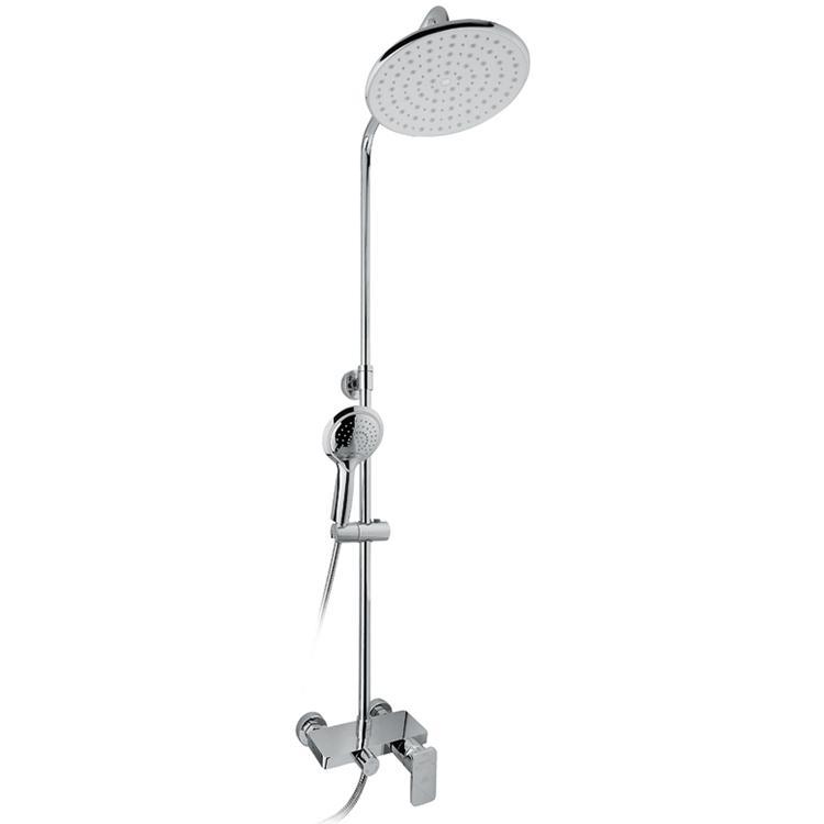 Lotta Thermo SX-2610 White ХромДушевые системы<br>Душевая система Timo Lotta-Thermo SX-2610 Whait с круглым верхним душем, однорычажным смесителем с изливом. Решение для ванной комнаты в современном стиле.<br><br><br><br>Душевая система сделана из латуни класса А.<br>Покрытие: глянцевый хром.<br><br><br><br><br>Смеситель:<br><br>Управление: однорычажное.<br>Фиксированный излив длиной: 14 см.<br>Картридж термо диаметром: 40 мм.<br><br><br><br><br>Душевая система:<br><br>Материал лейки: высококачественный пластик.<br>Круглый тропический верхний душ диаметром: 23 см.<br>Цвет верхней/нижней лейки: белый/хром.<br>Однорежимный ручной душ.<br>Угол наклона верхней лейки регулируется до 35° во все стороны.<br>3 режима: переключение излив/верхний душ/лейка.<br>Регулируемая телескопическая штанга высотой: 78-130 см.<br><br><br>