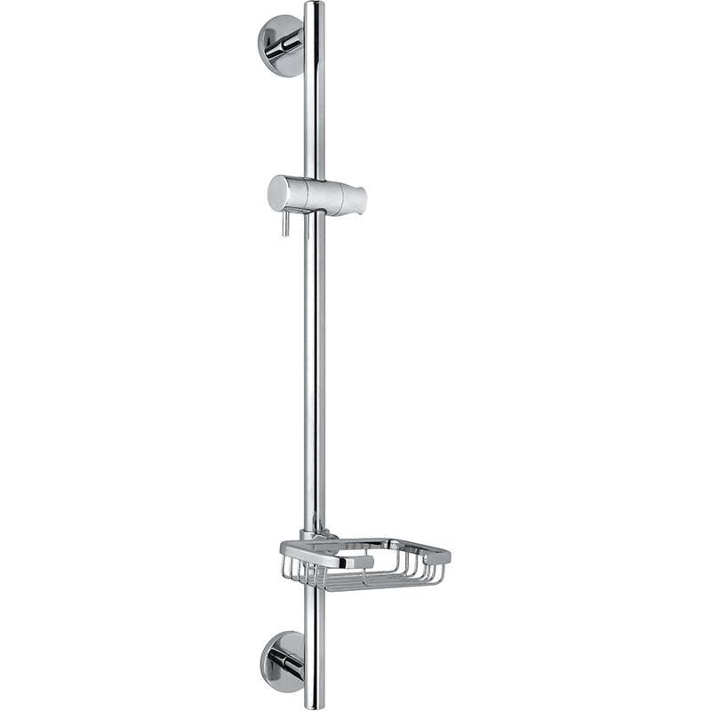 SR-0037 ХромДушевые гарнитуры<br>Душевой гарнитур Timo SR-0037 с мыльницей и держателем для душа. Решение для ванной в современном стиле.<br><br><br><br>Стойка и все элементы сделаны из латуни.<br>Покрытие: глянцевый хром.<br>Штанга с мыльницей и держателем для душа высотой: 65 см.<br><br><br>