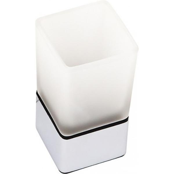 Стакан для зубных щеток Fixsen Kvadro FX-130В Хром стакан для зубных щеток fixsen bogema gold fx 78506g золото белый