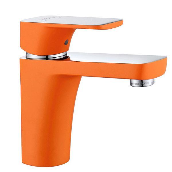 Смеситель для раковины D&K Berlin Kunste DA1432113 Хром Оранжевый