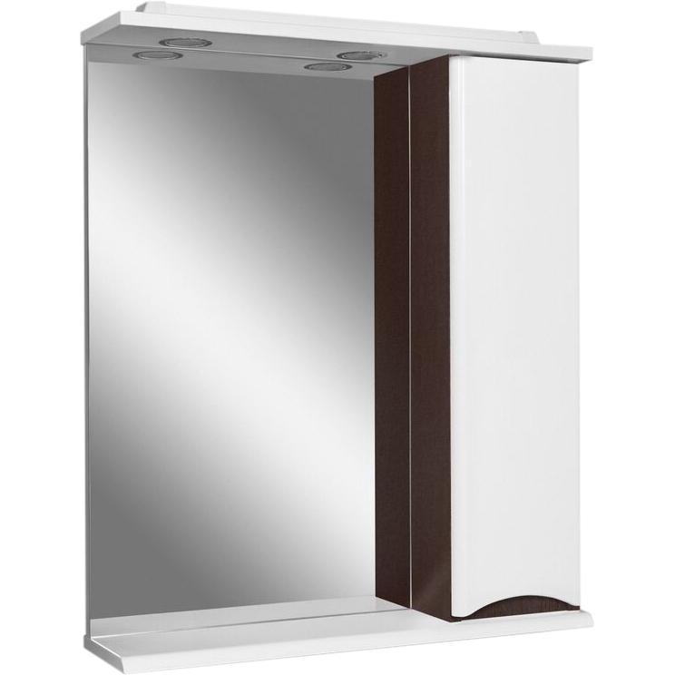 Зеркало со шкафом AM.PM Like 65 R M80MPR0651VF с подсветкой Белый/венге