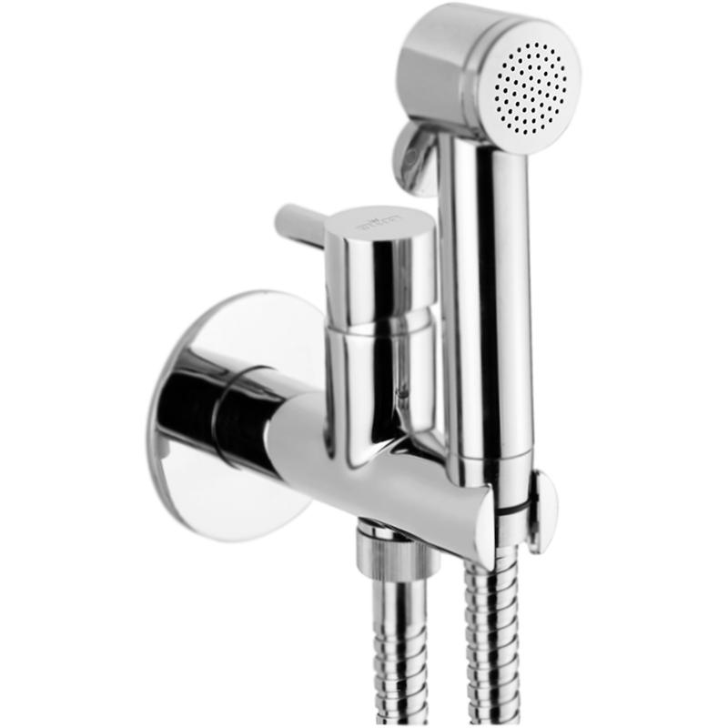 EL870303 со смесителем ХромГигиенические души<br>Гигиенический душ Webert EL870303015PVC со встраиваемым смесителем. Модель в стиле минимализм, модерн. Дизайн позволяет использовать изделие как в ванной комнате так и на кухне.<br>Качество: премиум-класс.<br>Покрытие: глянцевый хром.<br>Смеситель: латунь, однорычажный, встраиваемый, настенный.<br>Отражатель: латунь, слим формат, толщина 3,5 мм.<br>Ручной душ: PVC пластик, однорежимный, с нажимной кнопкой открытия.<br>Термопластичный фильтр: предотвращение попадания грубых частиц в излив.<br>Держатель лейки: фиксированный, на корпусе смесителя.<br>Душевой шланг: латунь, гибкий, L 150 см.<br>Стандарт подключения смесителя и шланга: G 1/2.<br>Состав материалов соответствует международным нормам.<br>Латунь содержит минимальный процент свинца, меньше чем 0,2 процента.<br>Защита от царапин, влаги и воздействия окружающей среды.<br>Простота монтажа: литые отверстия для фиксации в стене.<br>В комплекте поставки:<br>смеситель (внутренняя и внешняя части);<br>отражатель;<br>держатель лейки;<br>душевая лейка;<br>шланг;<br>крепления.<br>