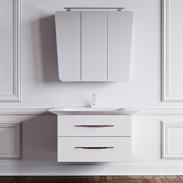 Симфония W 90 подвесная БелаяМебель для ванной<br>Подвесная тумба под раковину Aqwella Симфония W 90 Sim.01.07/2/W белая, с двумя выдвижными ящиками, для использования в ванных комнатах с повышенной влажностью. <br>Материал фасада и корпуса: высококачественный МДФ.<br>Покрытие: четыре слоя высокоглянцевой эмали.<br>Экологически чистые материалы.<br>Ручки: глянцевый хром.<br>Фурнитура Blum: надежность идолговечность.<br>Монтаж: подвесной, крепление к стене.<br>Отделения:<br>верхнее: выдвижной ящик, два отсека;<br>нижнее: выдвижной ящик, один отсек;<br>система полного выдвижения и мягкого закрывания (Blum).<br>В комплекте поставки:<br>тумба.<br>