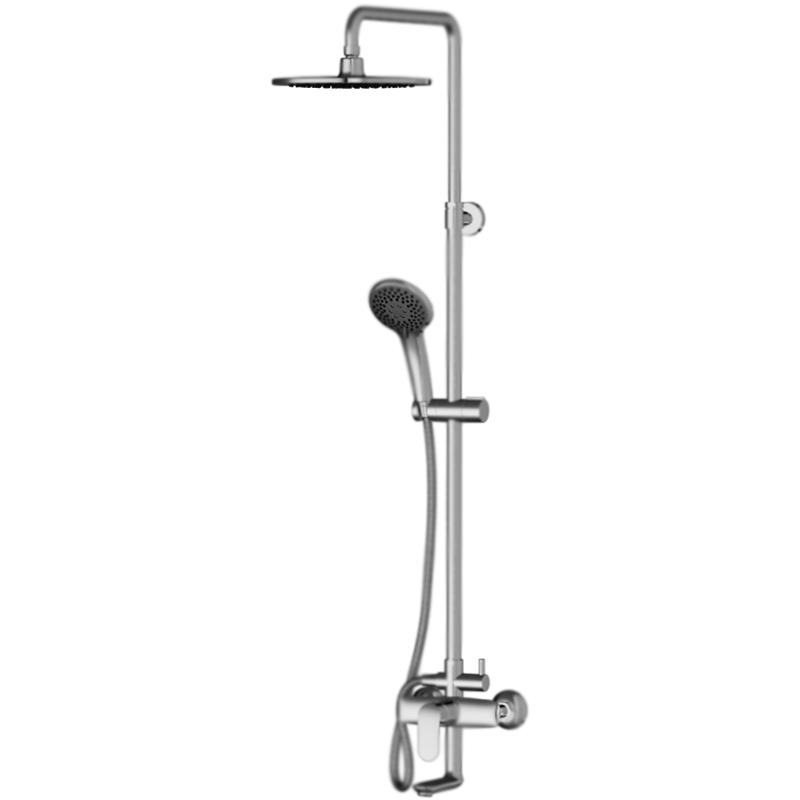 Like ShowerSpot F0780900 ХромДушевые системы<br>Душевая система AM PM Like ShowerSpot F0780900 с круглым верхним душем и с однорычажным смесителем с изливом.<br>Смеситель:<br>Покрытие: глянцевый хром.<br>Материал: латунь.<br>Управление: однорычажное.<br>Фиксированный излив.<br>Монтаж: на стену, в два отверстия.<br>Расстояние между центрами креплений: 15±1,5 см.<br>Стандарт подключения: G 1/2.<br>Душевая колонна:<br>Покрытие: глянцевый хром.<br>Функция Air In: повышение эффективности и экономии воды.<br>Функция Rub&amp;Clean;: легкая очистка душевых форсунок.<br>Телескопическая штанга с регулировкой высоты: 90-135,5 см.<br>Расстояние между точками крепления: 83,5 см.<br>Переключатель потоков: Turning Switch.<br>Верхний душ: круглый, D 25 см, шаровый шарнир, регулировка угла наклона.<br>Длина кронштейна верхнего душа: 38,5 см.<br>Ручной душ: 3 режима (Spray, EnerJet, Spray+Massage), D 11 см.<br>Держатель ручного душа: на штанге, регулировка в трех плоскостях.<br>Душевой шланг: система антискручивания, L 175 см.<br>В комплекте поставки:<br>штанга;<br>смеситель;<br>верхний душ с кронштейном;<br>ручной душ c держателем;<br>переключатель потоков;<br>душевой шланг;<br>комплект креплений.<br>