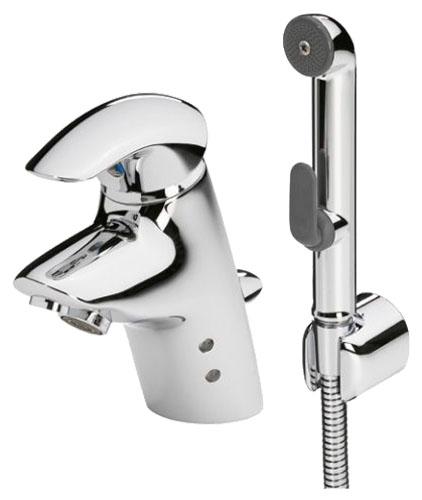 Ventura 8012 ХромСмесители<br>Смеситель для раковины Oras Ventura 8010, комбинированный ( 2 в 1 ) с гигиеническим душем Bidetta. Донный клапан, расход воды 9 л/мин и 6 л/мин с ограничением потока, время подачи воды (бесконтактная функция) 4 с.<br>