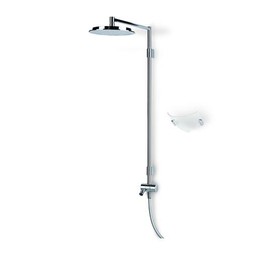 Hydra 391 ХромДушевые системы<br>Душевая система Oras Hydra 391. Верхний душ на шарнире 238 мм, защита от известковых отложений, переключатель, излив.<br>