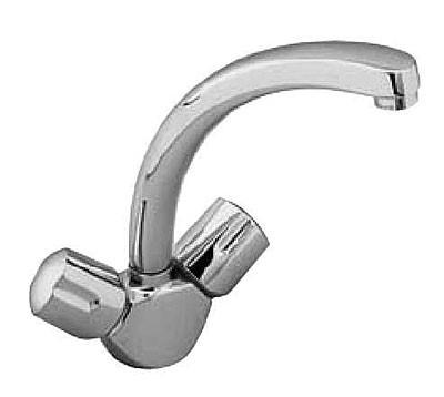 Euroflow B1906AA хромСмесители<br>Смеситель для кухни Ideal Standard Euroflow B1906AA.<br>- Металлическая рукоятка с индикатором горячей / холодной воды<br>- Аэратор<br>