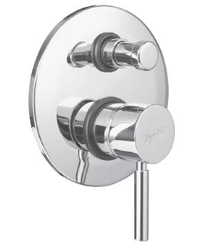 Kobuk 2272 ХромСмесители<br>Смеситель для ванны Bugnatese Kobuk 2272 однорычажный, встраиваемый на одно отверстие, с автоматическим переключателем душ/излив.<br>