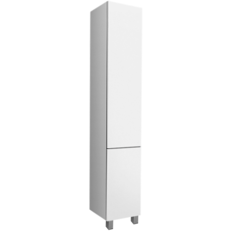 Gem 30 R БелыйМебель для ванной<br>Шкаф пенал AM PM Gem 30 R M90CSR0306WG белый, с глянцевой поверхностью, с двумя распашными дверцами (петли справа), с двумя хромированными ножками, для длительного срока службы в ванных комнатах с повышенной влажностью.<br>Дизайн от инновационной компании DanelonMeroni.<br>Безупречный баланс между функциональностью и дизайном.<br>Материал: высококачественный ДСП.<br>Покрытие: долговечные итальянские краски и эмали.<br>Специальная технология покраски в семь слоев.<br>Насыщенный цвет в течение всего срока службы.<br>Экологически чистые материалы.<br>Система Push to Open: дверь открывается нажатием на любую ее часть.<br>Система Soft-Close: петли с доводчиками для плавного закрывания.<br>Высота ножек: 10 см.<br>Монтаж: комбинированный.<br>Крепление к стене: два навеса.<br>Дополнительные напольные опоры: две ножки.<br>Отделения:<br>верхнее: распашная дверца, две полки из ДСП;<br>нижнее: распашная дверца, одна полка из ДСП.<br>В комплекте поставки:<br>пенал.<br>