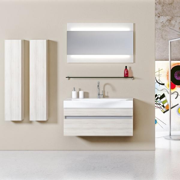 Бергамо 80 подвесная АкацияМебель для ванной<br>Подвесная тумба под раковину Aqwella Бергамо 80 Ber.01.08/A цвета акация, с фактурной поверхностью, с двумя выдвижными ящиками, для использования в ванных комнатах с повышенной влажностью. <br>Материал: высококачественный испанский МДФ (FINSA).<br>Покрытие: высококачественная структурированная пленка.<br>Отделка внутренних элементов: Eolo цвет под ткань.<br>Экологически чистые материалы.<br>Фурнитура Blum: надежность идолговечность.<br>Монтаж: подвесной, крепление к стене.<br>Отделения:<br>верхнее: выдвижной ящик, система разделения внутреннего пространства;<br>нижнее: выдвижной ящик, один отсек.<br>Система полного выдвижения и мягкого закрывания (Blum).<br>В комплекте поставки:<br>тумба.<br>