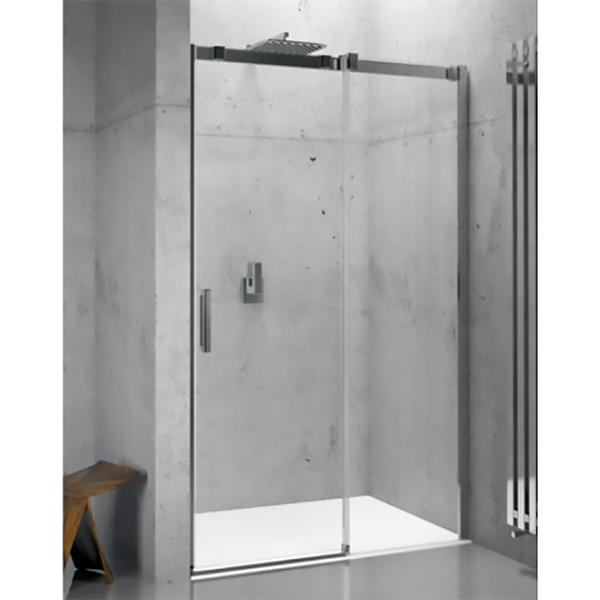 Ocean O104 100x195 ХромДушевые ограждения<br>Душевая дверь Riho Ocean O104 100x195 GU0200100 универсальная, с одной раздвижной дверцей. <br>Возможность установки дверцы как слева, так и справа.<br>Профиль:<br>Алюминиевый роликовый профиль цвета хром.<br>Регулировка +- 20 мм.<br>Герметичность II степени: плоские уплотнения и профиль порожка не позволяют воде разбрызгиваться и предотвращают протечки воды из душа.<br>Стекло:<br>Безопасное закаленное стекло толщиной 6 мм. Устойчиво к давлению на его поверхность.<br>Покрытие Riho Shield: водоотталкивающая обработка, не позволяющая жидкостям засыхать на стеклах душевого уголка. Капли легко стекают со стекла, не оставляя следов.<br>Возможна установка на душевой поддон или непосредственно на пол.<br>Для ухода за стеклами рекомендуется использовать резиновый шпатель или увлажненную мягкую тряпку.<br>Душевая дверь Riho отвечает требованиям по безопасности CSN EN 14428, и проходит тестирование по этой норме.<br>Объем поставки:<br>Профиль,<br>Комплект стекол,<br>Комплект креплений.<br>