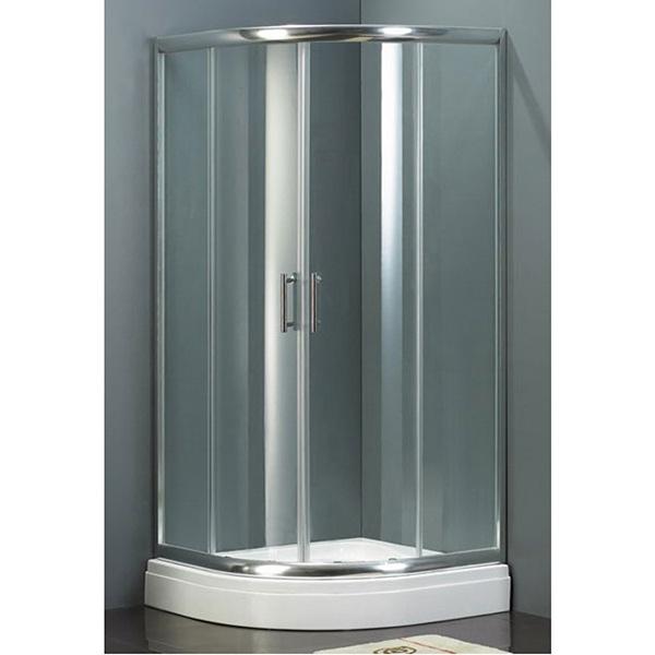 Hamar GR252 100x100 ХромДушевые ограждения<br>Душевой уголок Riho Hamar GR252 100x100 GR35200 радиальный с двумя раздвижными дверцами. <br>Профиль:<br>Алюминиевый профиль цвета хром.<br>Роликовый профиль.<br>Регулировка +- 35 мм.<br>Герметичность I степени: контурный профиль не позволяет воде разбрызгиваться и предотвращают протечки воды из душевой кабины.<br>Стекло:<br>Цвет: прозрачный.<br>Безопасное закаленное стекло толщиной 6 мм. Устойчиво к давлению на его поверхность.<br>Покрытие Riho Shield: водоотталкивающая обработка, не позволяющая жидкостям засыхать на стеклах душевого уголка. Капли легко стекают со стекла, не оставляя следов.<br>Возможность снятия стекла с роликовых направляющих, облегчающая уход за изделием.<br>Для ухода за стеклами рекомендуется использовать резиновый шпатель или увлажненную мягкую тряпку.<br>Душевой уголок Riho отвечает требованиям по безопасности CSN EN 14428, и проходит тестирование по этой норме.<br>Объем поставки:<br>Профиль,<br>Комплект стекол,<br>Комплект креплений.<br>