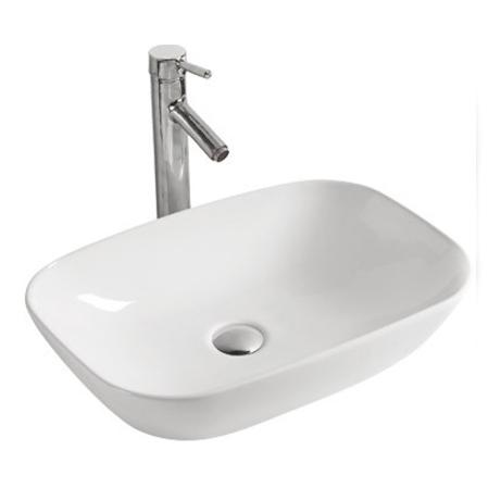 MR-5004 БелаяРаковины<br>Накладная раковина-чаша Mira MR-5004 51x34x14 в ванную комнату.<br>Дизайн: минимум деталей, изящные современные прямоугольный формы с скругленными углами.<br>Умывальник выполнен из санфаянса, сохраняющего долгое время цвет и гладкость поверхности.<br>