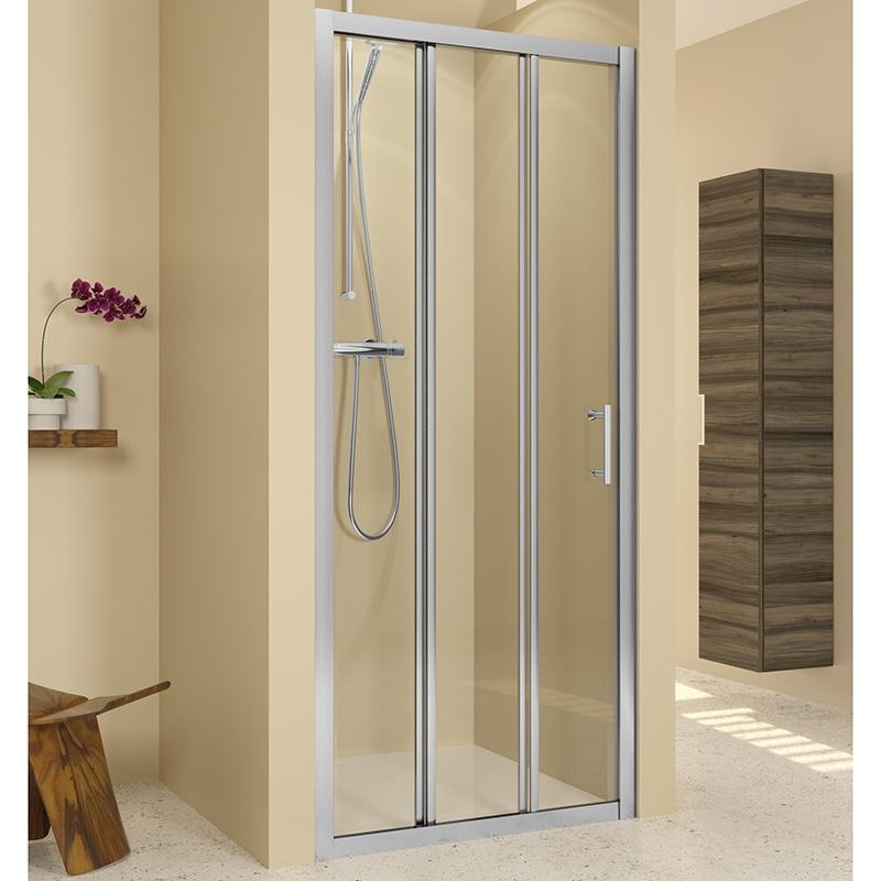 Душевая дверь в нишу Riho Hamar R114 90x195 Хром комплектующие ограждения riho шторка душевая hamar quadrant 90x90 r55 gr33200