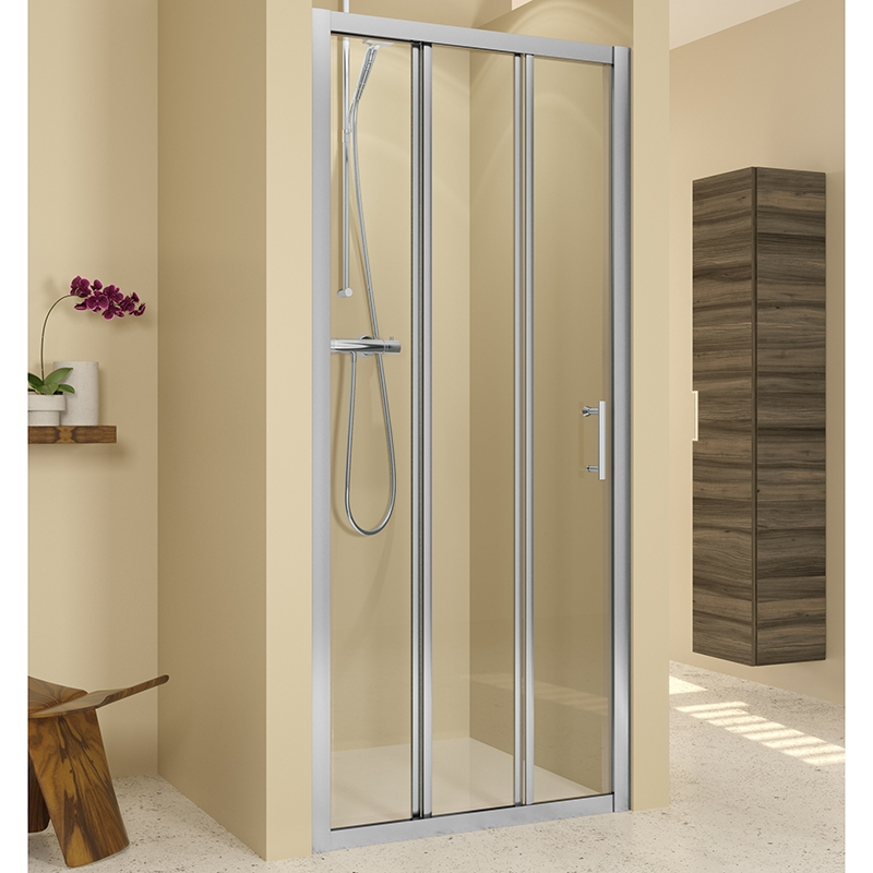 Душевая дверь в нишу Riho Hamar R114 100x195 Хром комплектующие ограждения riho шторка душевая hamar quadrant 90x90 r55 gr33200