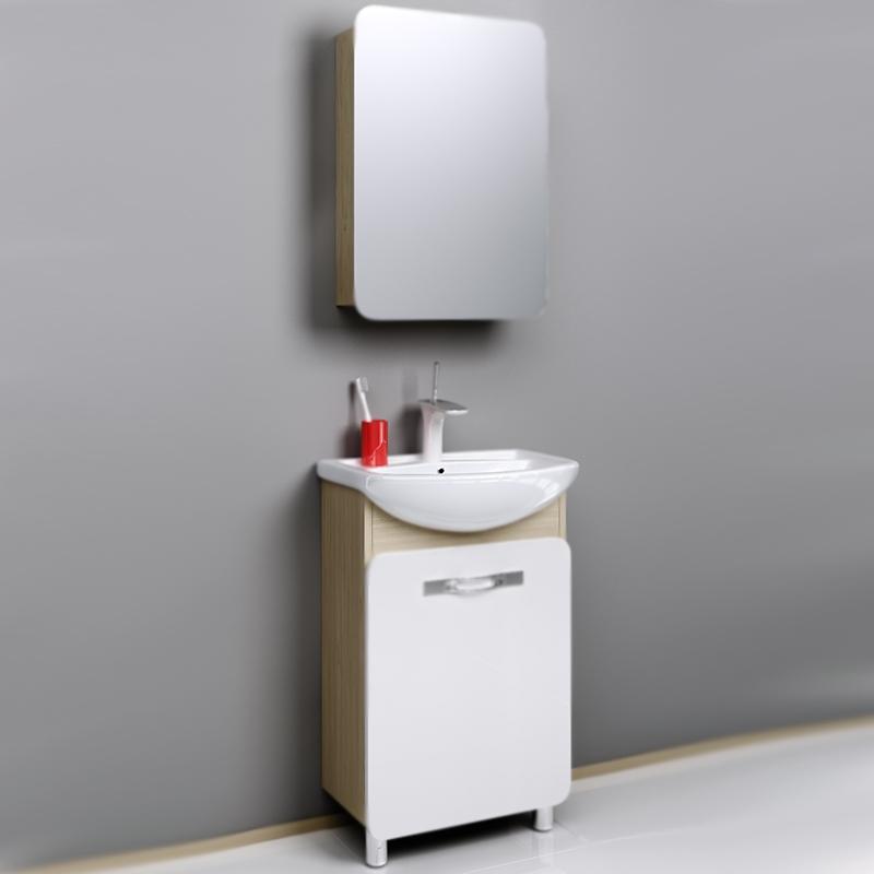 Вега 55 Белый/дуб сономаМебель для ванной<br>Тумба под раковину Aqwella Вега 55 Veg.01.05 с одной распашной дверцей с хромированной ручкой, с двумя ножками, для использования в ванных комнатах с повышенной влажностью.<br>Гармония, удобство и функциональность.<br>Комбинированный цвет: белый и дуб сонома.<br>Материал фасада: МДФ в пленке.<br>Материал корпуса: ламинированная ДСП.<br>Экологически чистые материалы, сертификат качества: ISO 9001:2000.<br>Отделение: одна распашная дверца, одна полка из ДСП.<br>Монтаж: комбинированный.<br>Крепление к стене: два навеса.<br>Дополнительные напольные опоры: две ножки.<br>В комплекте поставки:<br>тумба.<br>