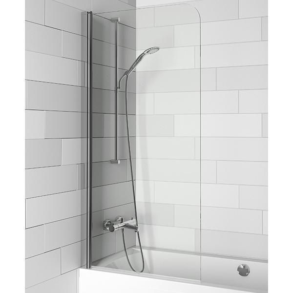 Nautic 3000 N107 90x150 ХромДушевые ограждения<br>Шторка для ванны Riho Nautic 3000 N107 90x150 GGT0210900800, универсальная, распахивающаяся внутрь и наружу. <br>Возможность установки к левой или к правой стене.<br>Профиль:<br>Алюминиевый профиль цвета хром.<br>Самоподъемная петля позволяет компенсировать неровности стен.<br>Регулировка +- 5 мм.<br>Герметичность III степени: две уплотнительные поверхности не позволяют воде разбрызгиваться и предотвращают протечки воды.<br>Поворот внутрь и наружу на 90 градусов.<br>Стекло:<br>Цвет: прозрачный.<br>Безопасное закаленное стекло. Устойчиво к давлению на его поверхность.<br>Толщина стекла: 6 мм.<br>Покрытие Riho Shield: водоотталкивающая обработка, не позволяющая жидкостям засыхать на стеклах душевого уголка. Капли легко стекают со стекла, не оставляя следов.<br>Для ухода за стеклами рекомендуется использовать резиновый шпатель или увлажненную мягкую тряпку.<br>Шторка на ванну Riho отвечает требованиям по безопасности CSN EN 14428, и проходит тестирование по этой норме.<br>Объем поставки:<br>Профиль,<br>Комплект стекол,<br>Комплект креплений.<br>