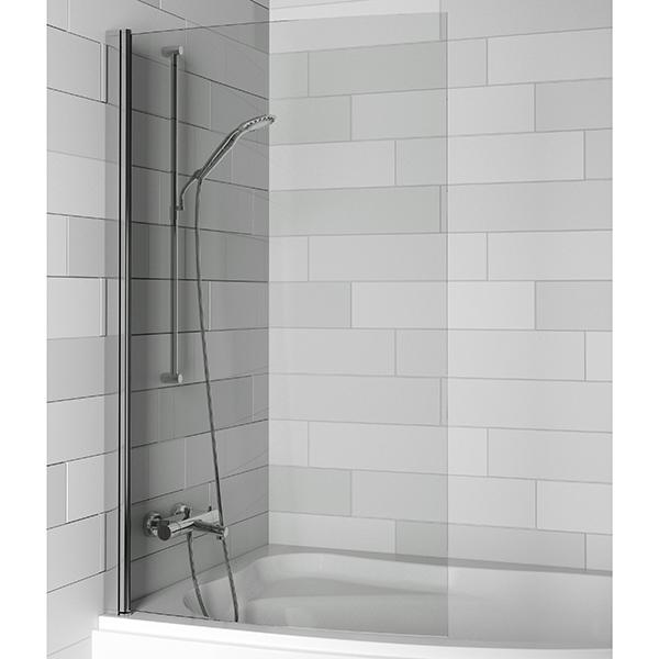 Nautic 3000 Lyra 89x150 ХромДушевые ограждения<br>Шторка для ванны Riho Nautic Lyra GGT5110945800, универсальная, распахивающаяся внутрь и наружу. <br>Возможность установки к левой или к правой стене.<br>Профиль:<br>Алюминиевый профиль цвета хром.<br>Самоподъемная петля позволяет компенсировать неровности стен.<br>Регулировка +- 5 мм.<br>Герметичность III степени: две уплотнительные поверхности не позволяют воде разбрызгиваться и предотвращают протечки воды.<br>Стекло:<br>Цвет: прозрачный.<br>Безопасное закаленное стекло. Устойчиво к давлению на его поверхность.<br>Толщина стекла: 6 мм.<br>Покрытие Riho Shield: водоотталкивающая обработка, не позволяющая жидкостям засыхать на стеклах душевого уголка. Капли легко стекают со стекла, не оставляя следов.<br>Для ухода за стеклами рекомендуется использовать резиновый шпатель или увлажненную мягкую тряпку.<br>Шторка на ванну Riho отвечает требованиям по безопасности CSN EN 14428, и проходит тестирование по этой норме.<br>Объем поставки:<br>Профиль,<br>Комплект стекол,<br>Комплект креплений.<br>