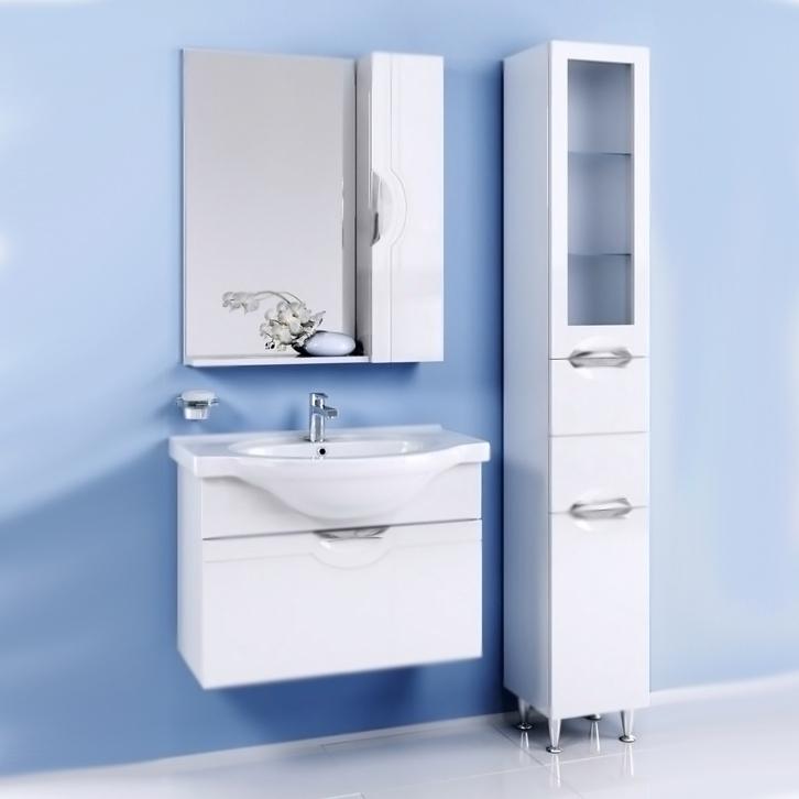 Н-лайн 75 подвесная БелаяМебель для ванной<br>Подвесная тумба под раковину Aqwella Н-лайн 75 N-Li.01.07 белая глянцевая, с одним выдвижным ящиком, для использования в ванных комнатах с повышенной влажностью.<br>Гармония, удобство и функциональность.<br>Материал: МДФ покрытый краской.<br>Экологически чистые материалы, сертификат качества: ISO 9001:2000.<br>Фурнитура Blum: надежность и долговечность.<br>Отделение: выдвижной ящик.<br>Монтаж: подвесной, крепление к стене.<br>В комплекте поставки:<br>тумба.<br>