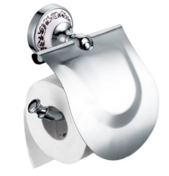 Держатель туалетной бумаги Fixsen Bogema FX-78510 Хром Белый держатель запасной туалетной бумаги fixsen bogema gold fx 78510bg золото белый