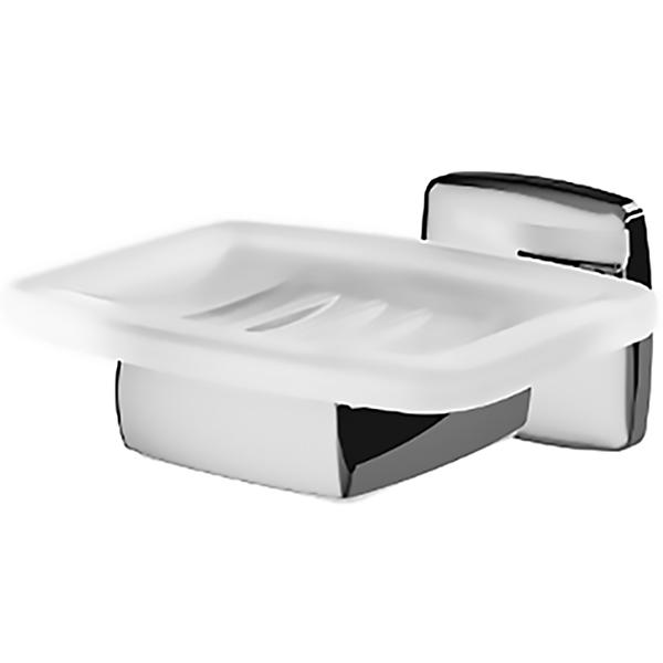 Gem A9034200 ХромАксессуары для ванной<br>Мыльница AM PM Gem A9034200.<br>Универсальный и лаконичный дизайн изделия отлично впишется в современный интерьер ванной комнаты.<br>Особенности:<br>Материал мыльницы: стекло.<br>Материал держателя: цинк.<br>Цвет: белый/хром.<br>