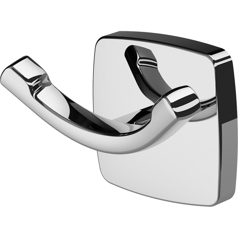 Gem A9035600 ХромАксессуары для ванной<br>Двойной крючок для полотенец AM PM Gem A9035600.<br>Универсальный и лаконичный дизайн изделия отлично впишется в современный интерьер ванной комнаты.<br>Особенности:<br>Материал: цинк.<br>Покрытие: хром.<br>