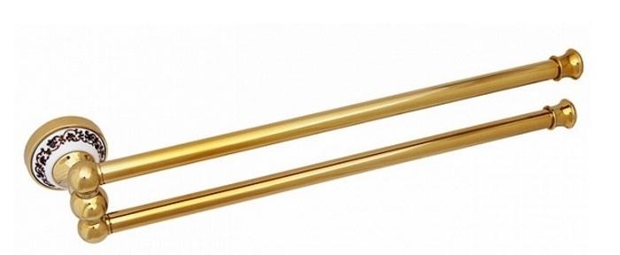 Держатель для полотенец Fixsen Bogema Gold FX-78502AG Золото Белый