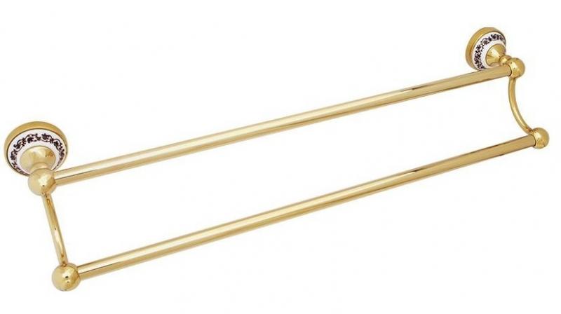 Держатель для полотенец Fixsen Bogema Gold FX-78502G Золото Белый